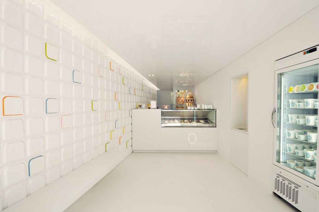 Il negozio si presenta come un cannocchiale ottico, foto Benjamin Webb