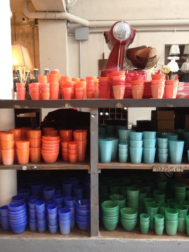 I bicchieri colorati del nuovo brand Magma, in esclusiva a Parigi per Borgo delle tovaglie